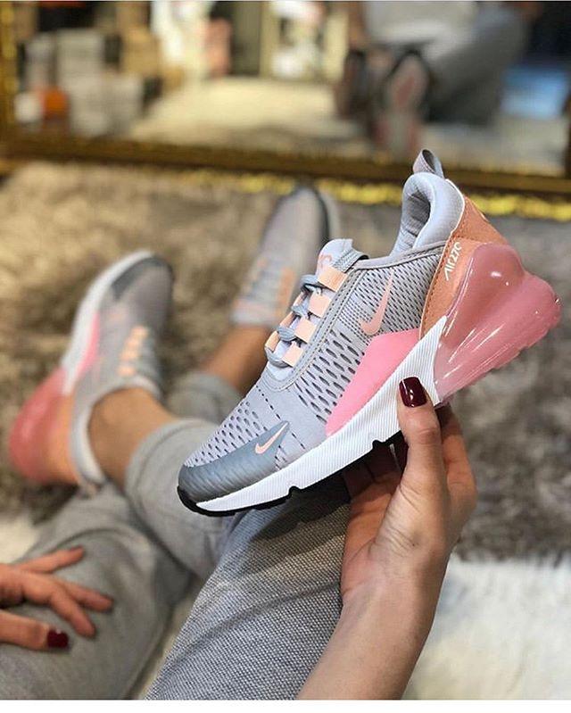 Replika Nike Air270 Pembe Bayan Spor Ayakkabı