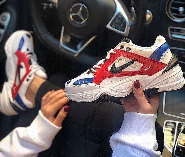 Replika Nike M2K Tekno Kırmızı-Mavi Unisex Ayakkabı