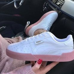 Çakma Puma Klasik Pembe Bayan Günlük Spor Ayakkabı