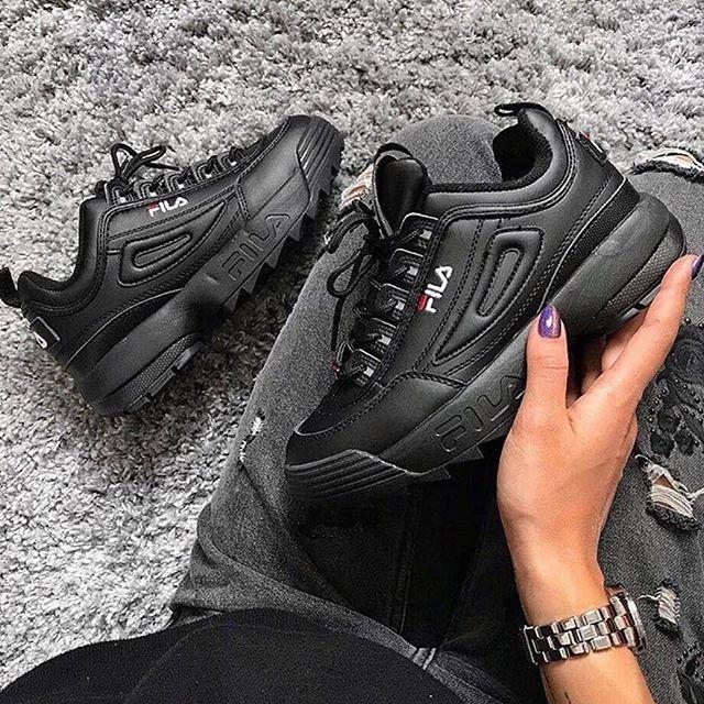 Replika Fila Siyah Ayakkabı