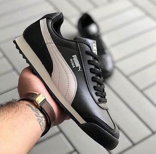 Replika Puma Roma Siyah Erkek Bayan Günlük Spor Ayakkabı