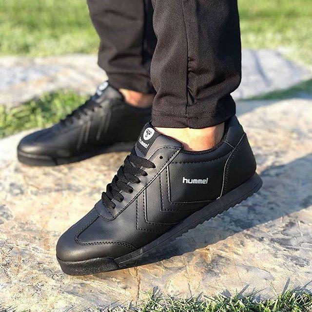Kaliteli Replika-Çakma Hummel Siyah Ayakkabı