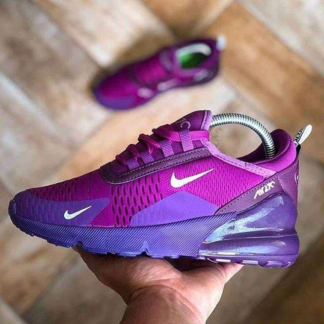 Replika-Çakma Nike Air270 Mor Spor Ayakkabı