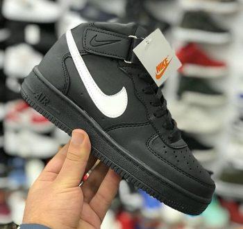 Replika-Çakma Nike AirForce Boğazlı Siyah
