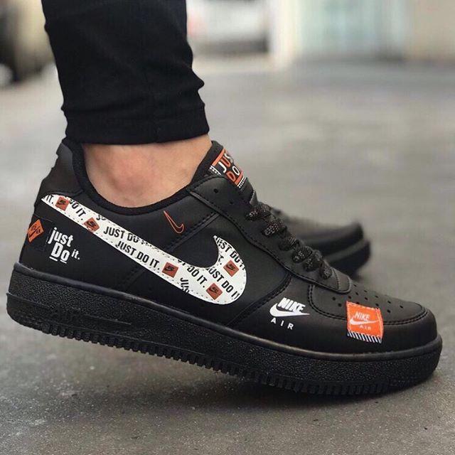 Replika Nike Just Do İt Siyah Ayakkabı