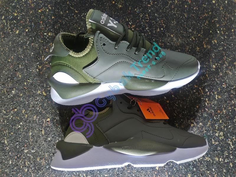 Replika-Çakma Adidas Yeezy Y-3 Haki Yeşili Erkek Spor Ayakkabı