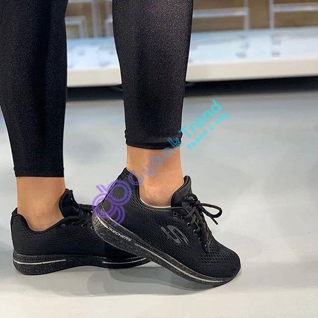 Replika-Çakma Skechers Siyah Unisex Ayakkabı