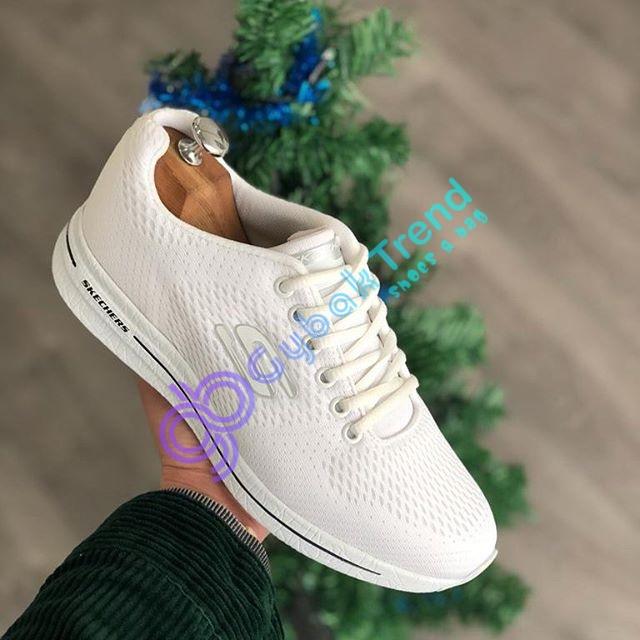 Çakma Skechers Beyaz Erkek Günlük Spor Ayakkabı