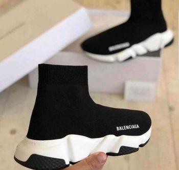 Replika Çorap Balenciaga Siyah Unisex Günlük Ayakkabı