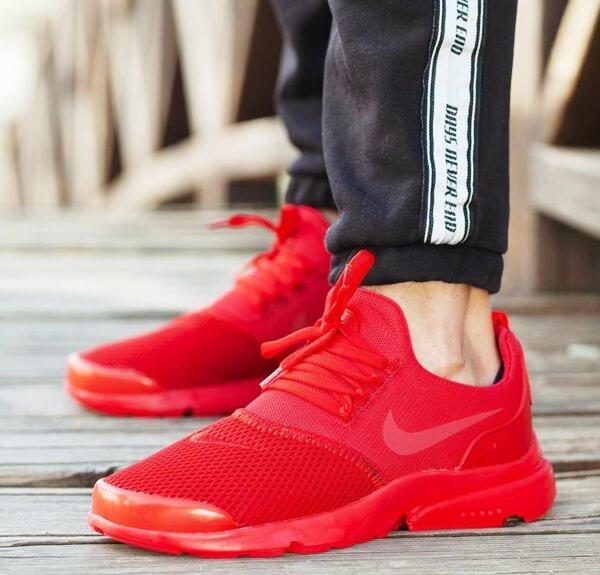 Çakma Nike Duralon Kırmızı Spor Ayakkabı