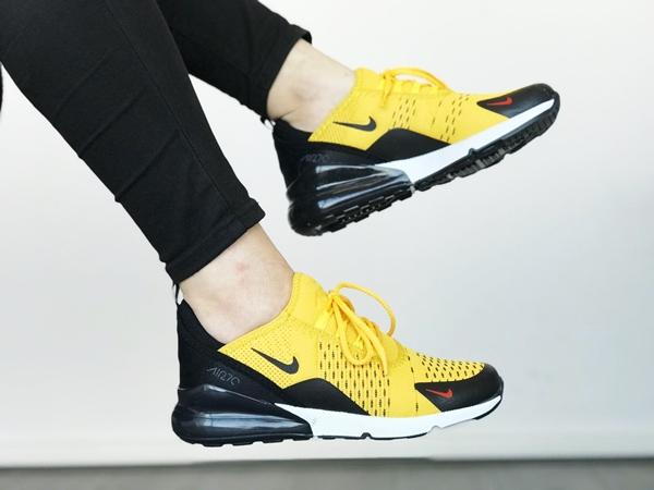 Replika-Çakma Nike Air270 Sarı Spor Ayakkabı