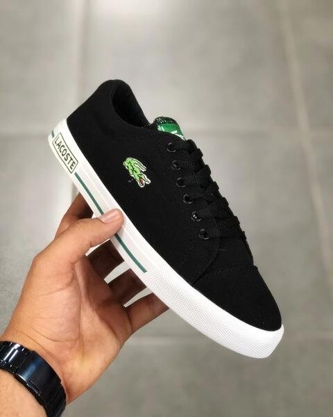 Replika Lacoste Siyah Ayakkabı