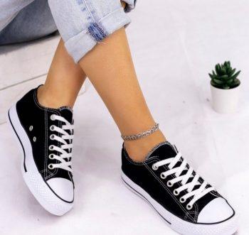 Replika Converse All Star Siyah Ayakkabı