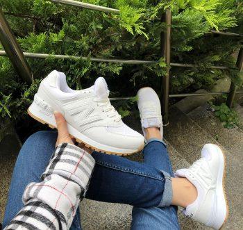 Replika New Balance 574 Beyaz Spor Ayakkabı