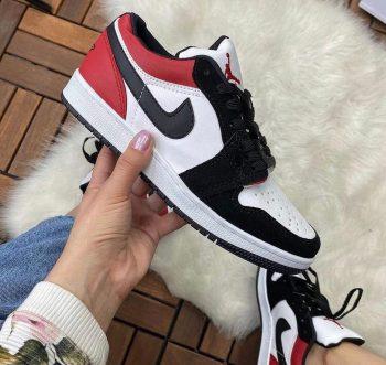 Replika Nike Air Jordan Siyah-Kırmızı Ayakkabı