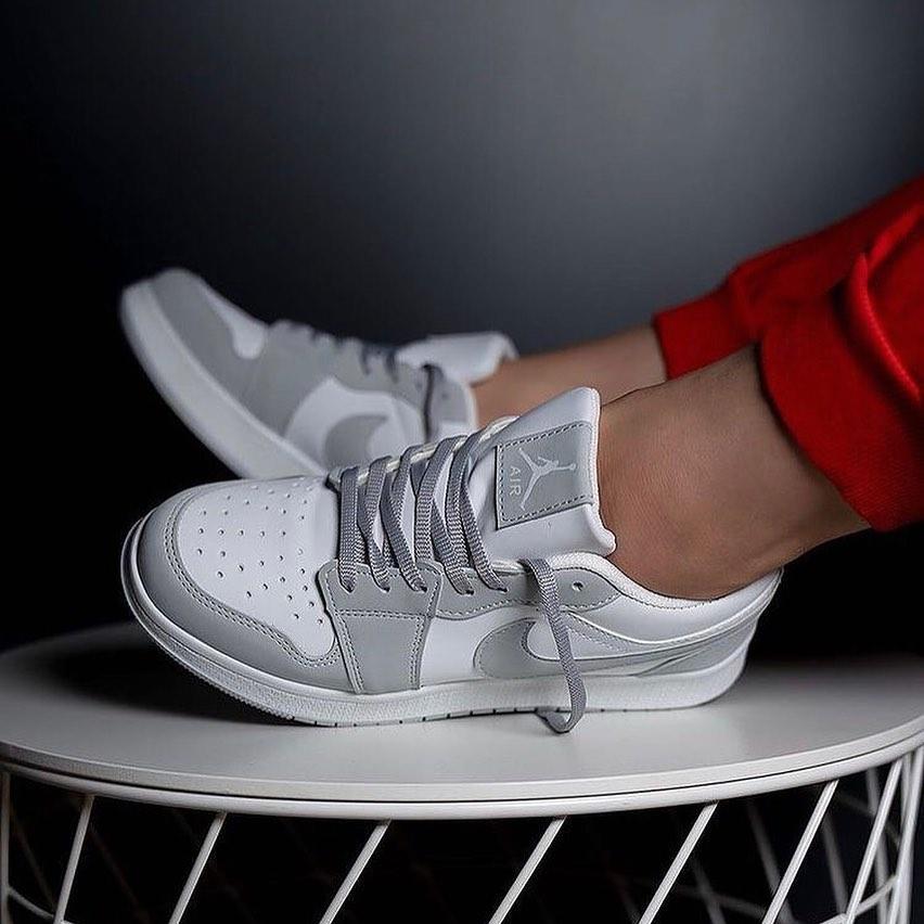 Replika Nike Air Jordan Gri Kısa Ayakkabı