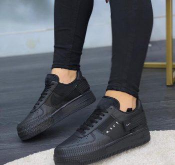 Replika Nike Air Force N354 Siyah Ayakkabı