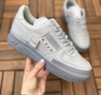 Replika Nike Air Force N354 Gri Ayakkabı