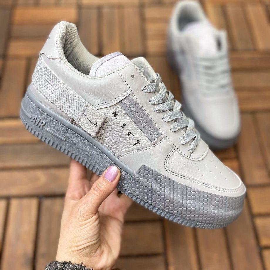 Replika Nike Air Force N354 Gri Ayakkabı